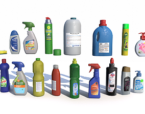 Cleaning Products PBR 3D model