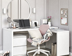 IKEA MALM corner workplace 3D