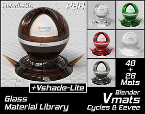 3D model VMATS Glass Material Library for Blender Cycles 2