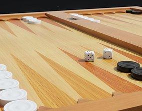 Backgammon 3D Model sports