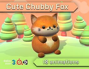 Cute Chubby Fox 3D model