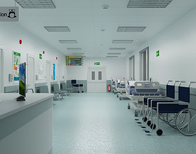 lobby Hospital Ward And Hallway 3D
