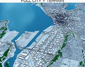 3D model Seattle with Terrain