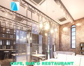 3D model Intimate Cafe - Bar - Restaurant Scene - Archicad