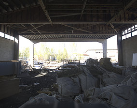 Industrial Area HDRI - Abandoned Hall 3D model