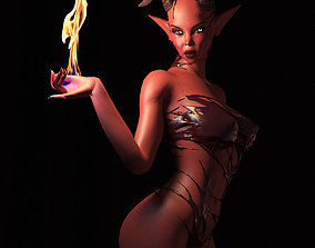 Succubus fully rigged 3D asset