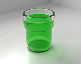 3D model Glass Cup 13 with Liquid