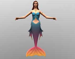 3D model realtime girl Mermaid