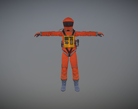 3D model 2001 A Space Odyssey Astronaut Action Figure