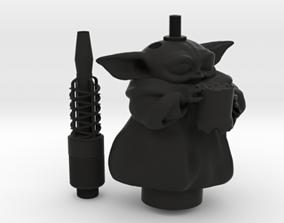 SAMAN BABY YODA HOOKAH FULL KIT 3D print model