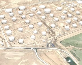 Petroleum Storage Tanks Sitra Bahrain Industrial 3D model