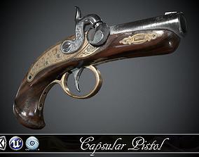 3D asset Capsular Pistol Deringer - model and