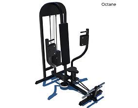 3D model animated Pec Dec Fly Machine - Gym Equipment