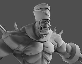 3D model Animated skeleton Warrior