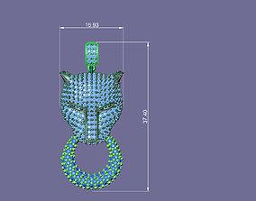 tiger necklace 3D print model