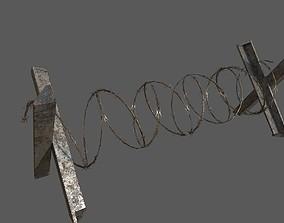 Military Barbwire Barricade 3D model