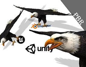 Eagle 3D model for unity 3D Blender and Maya rigged