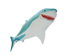 Stylised Great White Shark 3D asset