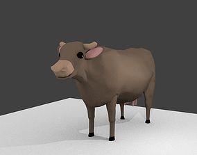 Cow cartoon 3D model 3d