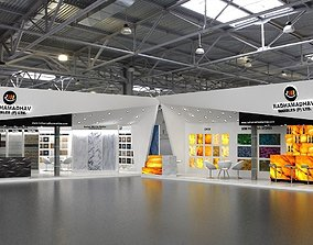 exhibition Two Exhibition Stand in One Exhibition Fair 3D