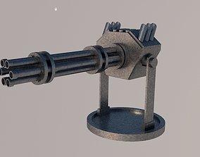 Gatling gun 3D model realtime