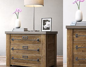 RH MERCANTILE 32in CLOSED NIGHTSTAND 3D model