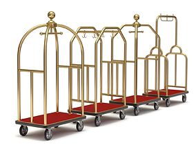 Hotel Cart Set travel 3D model