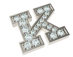 Letter K 3D printable model
