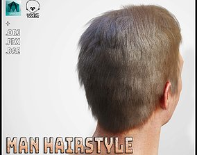 Male Hairstyle 3D model