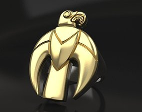 Scythian golden eagle ring and pendant 3D print model