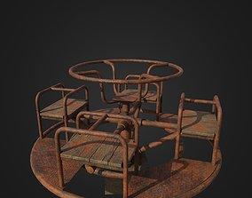 Old Worn Merry Go Round 3D asset realtime