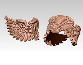 Flying Wings Engine Moto Biker Ring ver 3D printable model