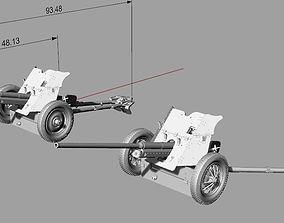 Artillery 45mm 53k canon and M42 canon 3D printable model