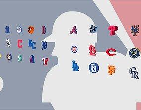 All MLB Team Logos 3D model