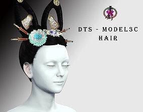 3D asset DTS - Model 3C Hair
