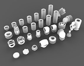 3D model Kitbash Pack Water Cooling Pipe and Tubing