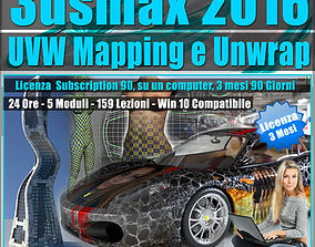 mapping 3ds max 2016 UVW Mapping e Unwrap 3 mesi