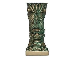 Lion bronze statue 3D print model