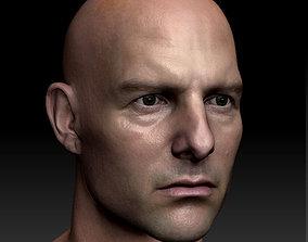 3d model Tom Cruise head obj VR / AR ready
