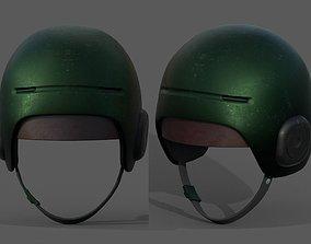3D model Helmet scifi military combat fantasy futuristic