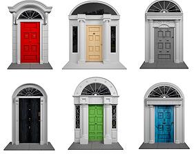 3D model Dublins Colored Exterior Doors