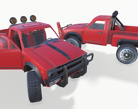 3D asset PickUp Red