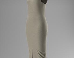 3D White dress elegant
