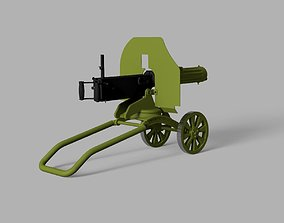 Maxim M1910 machine gun scale model maxim