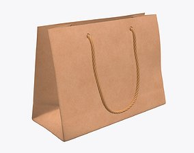 Paper bag medium with string handle 3D model