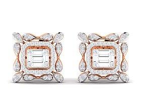 Women earrings 3dm stl render detail delicate