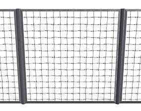 Low Poly Modular Fence 16 3D asset