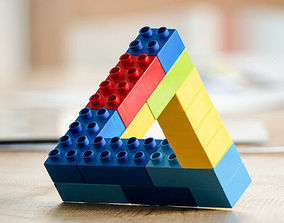 3D print model Lego impossible triangle