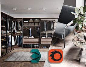 3D model Gentlement Dressing Room