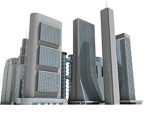 12 Buildings 3D Models condo